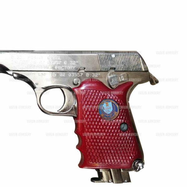 ASHANI PISTOL MK-II SILVER MADE BY GUN AND SHELL FACTORY(INDIAN ORDNANCE FACTORY)